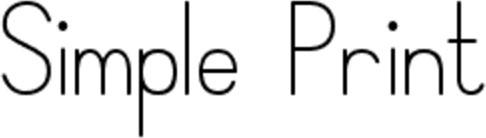 Font - Simple Print